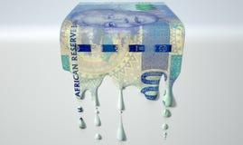 Νοτιοαφρικανικό λειώνοντας στάζοντας τραπεζογραμμάτιο ακρών Στοκ φωτογραφία με δικαίωμα ελεύθερης χρήσης