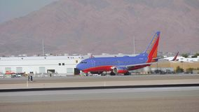 Νοτιοδυτικά αεροσκάφη διάδρομος στο Λας Βέγκας - ΗΠΑ 2017 απόθεμα βίντεο