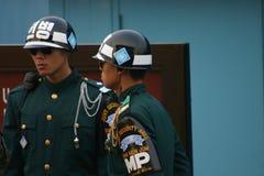 Νοτιοκορεατικοί στρατιώτες στα σύνορα σε Panmunjom στοκ φωτογραφία με δικαίωμα ελεύθερης χρήσης