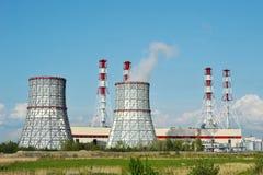 Νοτιοδυτικός θερμικός σταθμός παραγωγής ηλεκτρικού ρεύματος στη Αγία Πετρούπολη Στοκ Φωτογραφίες