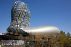 Νουβέλα του Μπορντώ Aquitaine/Γαλλία - 03 28 2019: Αναφέρετε το μουσείο du vin που αφιερώνεται στο παγκόσμιο κρασί στο Μπορντώ στοκ εικόνα με δικαίωμα ελεύθερης χρήσης