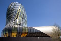 Νουβέλα του Μπορντώ Aquitaine/Γαλλία - 03 28 2019: Αναφέρετε du vin City του μνημείου κρασιού που αφιερώνεται στο παγκόσμιο κρασί στοκ φωτογραφίες με δικαίωμα ελεύθερης χρήσης