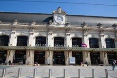Νουβέλα του Μπορντώ Aquitaine/Γαλλία - 03 28 2019: Αρχιτεκτονικές λεπτομέρειες Gare de Μπορντώ του σταθμού τρένου του Μπορντώ στοκ εικόνες με δικαίωμα ελεύθερης χρήσης