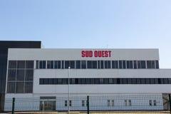 Νουβέλα του Μπορντώ Aquitaine/Γαλλία - 03 28 2019: Η εφημερίδα Ouest Sud καλύπτει Gironde, Charente, Charente-Maritime, Dordogne, στοκ εικόνες
