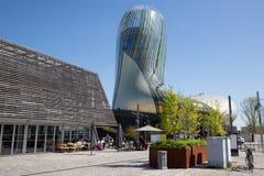 Νουβέλα του Μπορντώ Aquitaine/Γαλλία - 03 28 2019: Du vin είναι μουσείο κρασιού που αφιερώνεται στην τοπική παραγωγή κρασιού του  στοκ φωτογραφία