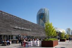 Νουβέλα του Μπορντώ Aquitaine/Γαλλία - 03 28 2019: halles de Bacalan αίθουσα Central αγοράς στο Μπορντώ στοκ εικόνες