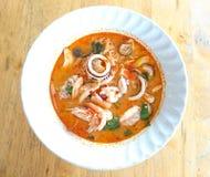 Νουντλς θαλασσινών τρόφιμα πικάντικος Ταϊλαν&delta στοκ φωτογραφίες με δικαίωμα ελεύθερης χρήσης