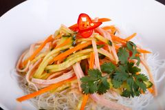 Νουντλς και λαχανικά σαλάτας 6ος Στοκ εικόνες με δικαίωμα ελεύθερης χρήσης