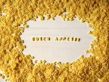Νουντλς αλφάβητου, Bon appetit Στοκ Εικόνες