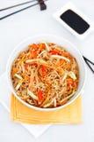 Νουντλς ρυζιού με τα λαχανικά Στοκ Εικόνα