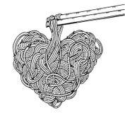 Νουντλς Doodle, σχέδιο χεριών Στοκ Εικόνες