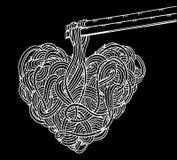 Νουντλς Doodle, σχέδιο χεριών Στοκ εικόνες με δικαίωμα ελεύθερης χρήσης
