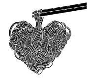 Νουντλς Doodle, σχέδιο χεριών Στοκ Εικόνα