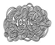 Νουντλς Doodle Στοκ φωτογραφία με δικαίωμα ελεύθερης χρήσης