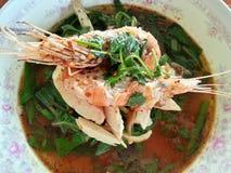 Νουντλς Tom-διοσκορέων, ταϊλανδικά τρόφιμα, Ταϊλάνδη Στοκ Εικόνες