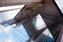 Νο 1 γέφυρα ST, αντανάκλαση του Λονδίνου Στοκ Εικόνες