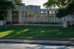 Ντάλλας, Τέξας - 7 Μαΐου 2018: Το Dealy Plaza και τα περιβάλλοντα κτήριά του στο στο κέντρο της πόλης Ντάλλας η θέση του John Φ Στοκ Φωτογραφία