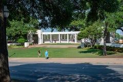 Ντάλλας, Τέξας - 7 Μαΐου 2018: Το Dealy Plaza και τα περιβάλλοντα κτήριά του στο στο κέντρο της πόλης Ντάλλας η θέση του John Φ Στοκ Εικόνες