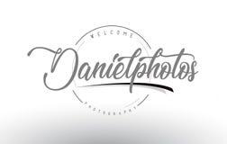 Ντάνιελ Personal Photography Logo Design με το όνομα φωτογράφων Στοκ φωτογραφία με δικαίωμα ελεύθερης χρήσης