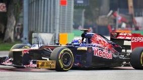 Ντάνιελ Ricciardo που συναγωνίζεται F1 σε Σινγκαπούρη GP Στοκ Εικόνες