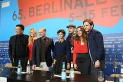 Ντάνιελ Bruehl, Darren Aronofsky, Audrey Tautou Στοκ φωτογραφίες με δικαίωμα ελεύθερης χρήσης