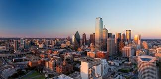 Ντάλλας, εικονική παράσταση πόλης του Τέξας στοκ εικόνες