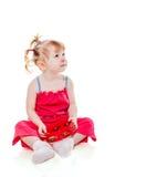 Ντέφι παιχνιδιού κοριτσιών Στοκ φωτογραφία με δικαίωμα ελεύθερης χρήσης