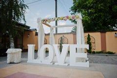 Ντεκόρ γαμήλιας λέξης στοκ εικόνες με δικαίωμα ελεύθερης χρήσης