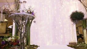 Ντεκόρ γαμήλιας τελετής απόθεμα βίντεο