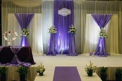 Ντεκόρ γαμήλιων σταδίων Στοκ Φωτογραφία