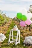 Ντεκόρ γενεθλίων ή γάμου άνοιξη ανθών της Apple Στοκ εικόνα με δικαίωμα ελεύθερης χρήσης