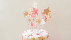 Ντεκόρ κέικ γενεθλίων Στοκ εικόνα με δικαίωμα ελεύθερης χρήσης