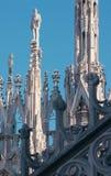 Ντεκόρ και αγάλματα του καθεδρικού ναού Duomo Στοκ Φωτογραφία