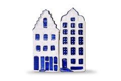 Ντεκόρ κουζινών - σπίτια της Ολλανδίας αλατιού και πιπεριών - απομονωμένο αντικείμενο Στοκ φωτογραφίες με δικαίωμα ελεύθερης χρήσης