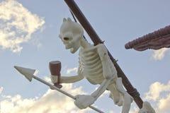 Ντεκόρ σκελετών παιχνιδιών σκαφών πειρατών Στοκ εικόνες με δικαίωμα ελεύθερης χρήσης