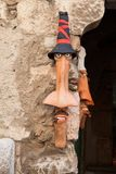 Ντεκόρ στον τοίχο στην οδό στην Ιταλία στοκ εικόνες