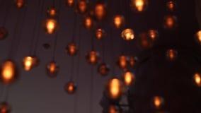 Ντεκόρ φωτισμού Συσκευές φωτισμού απόθεμα βίντεο
