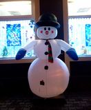 Ντεκόρ χειμερινών χιονανθρώπων στοκ φωτογραφία με δικαίωμα ελεύθερης χρήσης