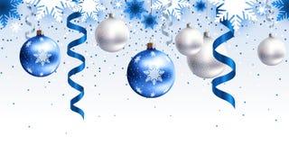 Ντεκόρ Χριστουγέννων για το οριζόντιο άνευ ραφής σχέδιο περιοχών Στοκ φωτογραφία με δικαίωμα ελεύθερης χρήσης