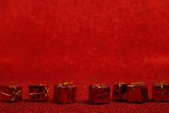 Ντεκόρ Χριστουγέννων στο κόκκινο στοκ εικόνα