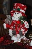Ντεκόρ Χριστουγέννων χιονανθρώπων Στοκ εικόνα με δικαίωμα ελεύθερης χρήσης