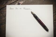 Ντεμοντέ επιστολή στοκ εικόνες