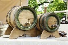 Ντεμοντέ, μεσαιωνικό ξύλινο βαρέλι Στοκ εικόνα με δικαίωμα ελεύθερης χρήσης