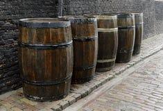 Ντεμοντέ, μεσαιωνικό ξύλινο βαρέλι Στοκ φωτογραφία με δικαίωμα ελεύθερης χρήσης
