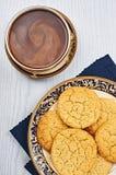 Ντεμοντέ μπισκότα ζάχαρης με τον καφέ Στοκ φωτογραφίες με δικαίωμα ελεύθερης χρήσης