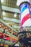 Ντεμοντέ στενός επάνω υποβάθρου πόλων barbershop στοκ εικόνες με δικαίωμα ελεύθερης χρήσης