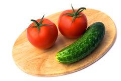 ντομάτα αγγουριών Στοκ φωτογραφία με δικαίωμα ελεύθερης χρήσης