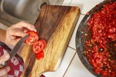 ντομάτα αποκοπών Στοκ Φωτογραφία