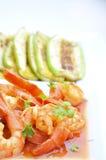 ντομάτα γαρίδων σάλτσας Στοκ εικόνες με δικαίωμα ελεύθερης χρήσης