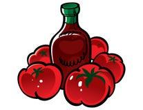 ντομάτα κέτσαπ απεικόνιση αποθεμάτων